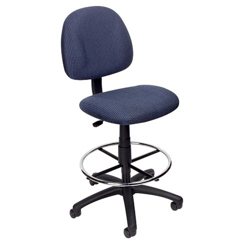 Drafting Stool with Footring Blue - Boss Office Products - image 1 of 4