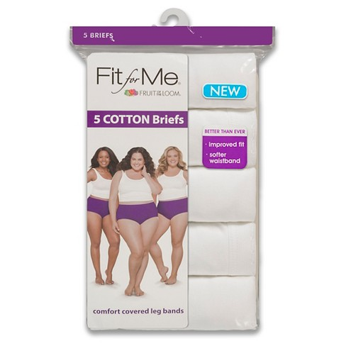 Fit For Me By Fruit Of The Loom Women S Plus Clic Briefs 5pk White Target