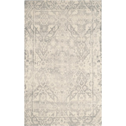 6'X9' Medallion Tufted Area Rug Light Gray/Ivory - Safavieh