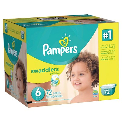 Pampers Swaddlers Diapers Giant Pack Size 6 (72 ct)