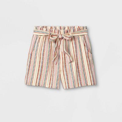 Girls' Belted Woven Shorts - art class™