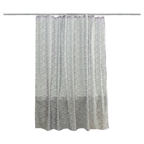 Seashell Shower Curtain Gray