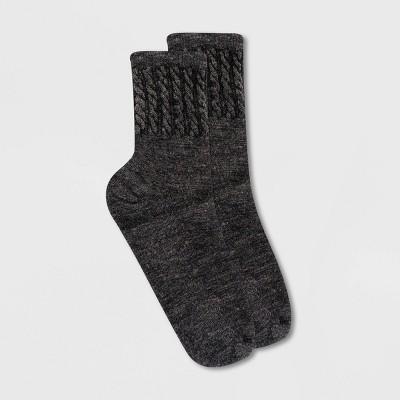 Alaska Knits Women's Wool Blend Textured Mid Crew Boot Socks - 4-10
