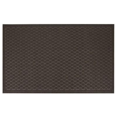 Dark Brown Diamond Tufted Door Mat 3'X5' - Apache Mills