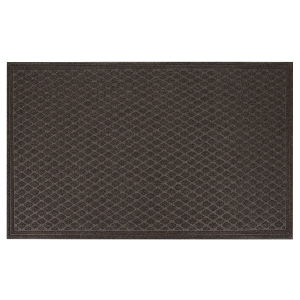 Image of Dark Brown Diamond Tufted Door Mat 3'X5' - Apache Mills