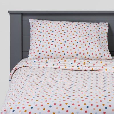 Dots Flannel Sheet Set - Pillowfort™