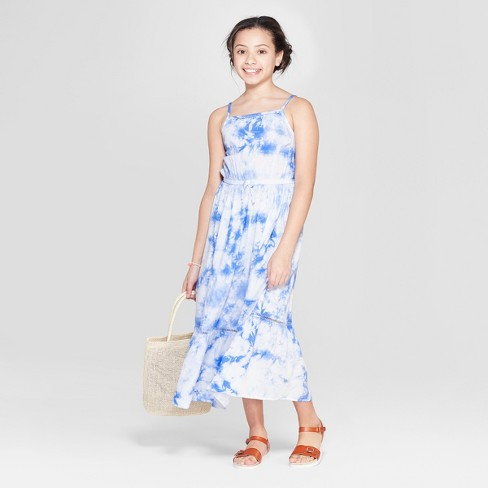 fd808618f17 Girls  Tie Dye Woven Maxi Dress - Cat   Jack™ Blue. Shop all Cat   Jack