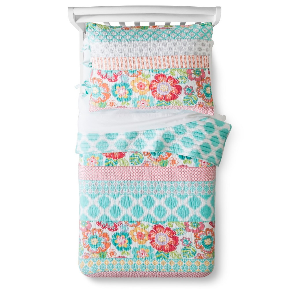 Image of Alexis Quilt Set Toddler Pink - Sheringham Road