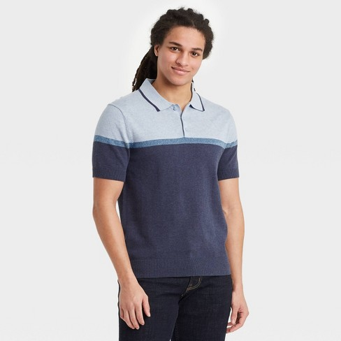 Men's Regular Fit Short Sleeve Sweater Polo -  Goodfellow & Co™ - image 1 of 3
