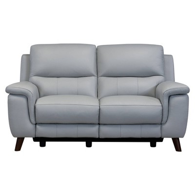 Lizette Contemporary Leather Power Recliner Loveseat with USB Gray - Armen Living