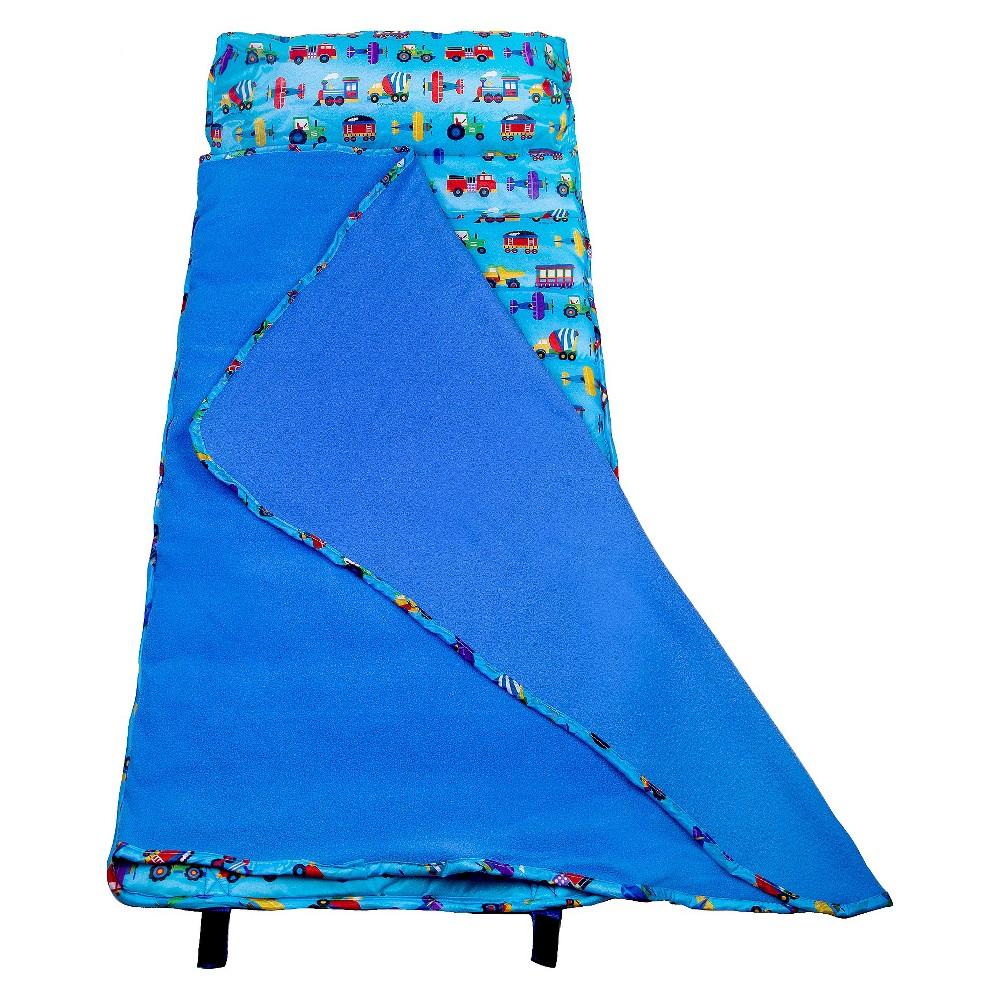 Olive Kids Trains, Planes and Trucks Easy Clean Nap Mat - Blue (2.5 Lb), Multi-Colored