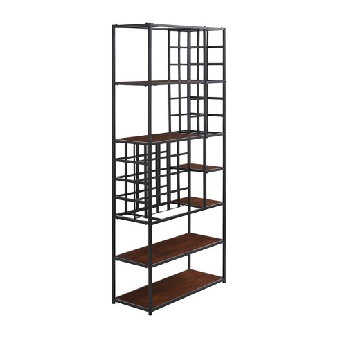 Destree Industrial Standing Wine Storage Dark Tobacco/Black - Aiden Lane - image 1 of 4
