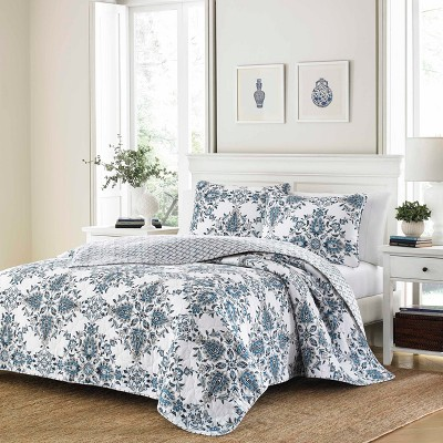 Blue Banks Quilt Set (Full/Queen)- Stone Cottage