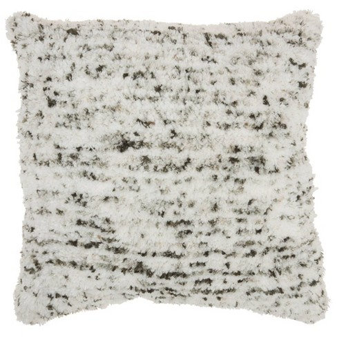 """24""""x24"""" Life Styles Sprinkle Micro Shag Throw Pillow Charcoal - Mina Victory - image 1 of 4"""