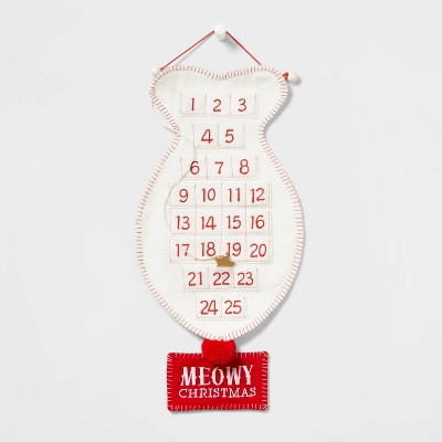 Cat Fish Christmas Advent Calendar Red and Ivory - Wondershop™