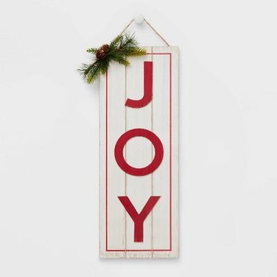 JOY Christmas Sign White - Wondershop™