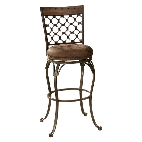 """26"""" Lannis Swivel Counter Stool Taupe - Hillsdale Furniture - image 1 of 3"""