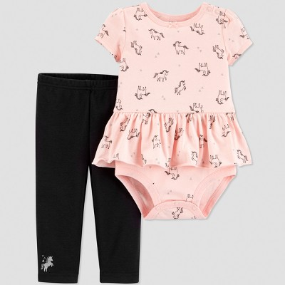 Baby Girls' 2pc Unicorn Set - Just One You® made by carter's Pink 12M