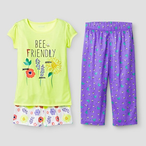 8adcb338f Girls  Pajama Set - Cat   Jack™ Yellow XS   Target