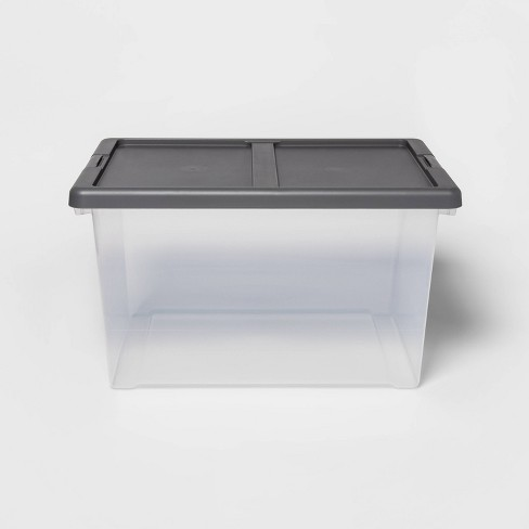 Large Clear Latching Storage Bin - Made By Design™ - image 1 of 4