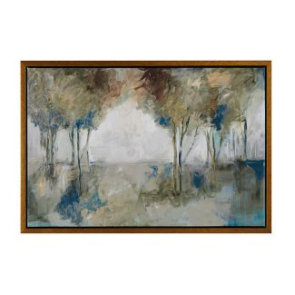 Muted Trees At Dusk Framed Wall Canvas