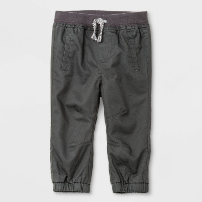 Baby Boys' Woven Pull-On Pants - Cat & Jack™ Gray 0-3M