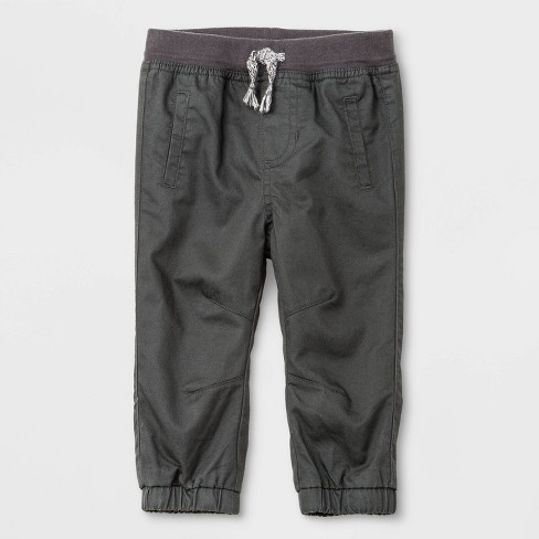 Baby Boys' Woven Pull-On Pants - Cat & Jack™ Gray - image 1 of 2