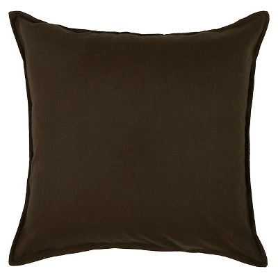"20""x20"" Solid Throw Pillow Brown - Rizzy Home"