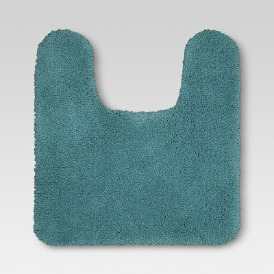 Performance Nylon Contour Bath Rug Teal - Threshold™