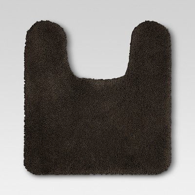 Performance Nylon Contour Bath Rug Brown - Threshold™