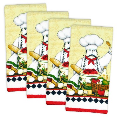 Essential Terry Chef Dishtowels Set Of 4 - Design Imports