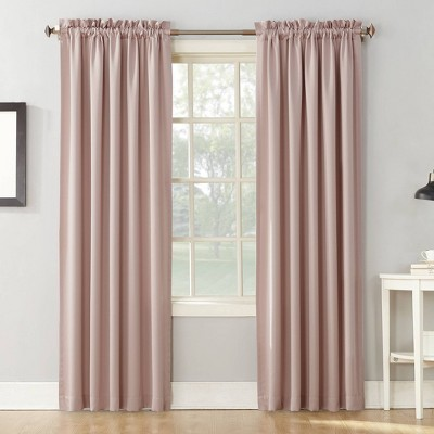 "Set of 2 84""x54"" Ren Room Darkening Rod Pocket Curtain Panel Blush - Sun Zero"