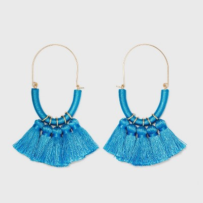 SUGARFIX by BaubleBar Multi-Tassel Threader Earrings