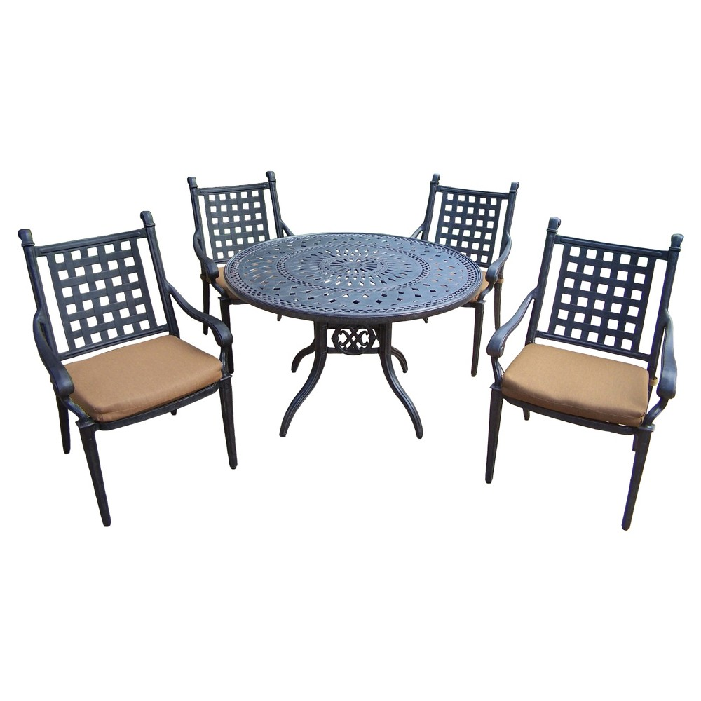 Magnificent Rosemont 5 Piece Aluminum Patio Dining Furniture Set Gmtry Best Dining Table And Chair Ideas Images Gmtryco