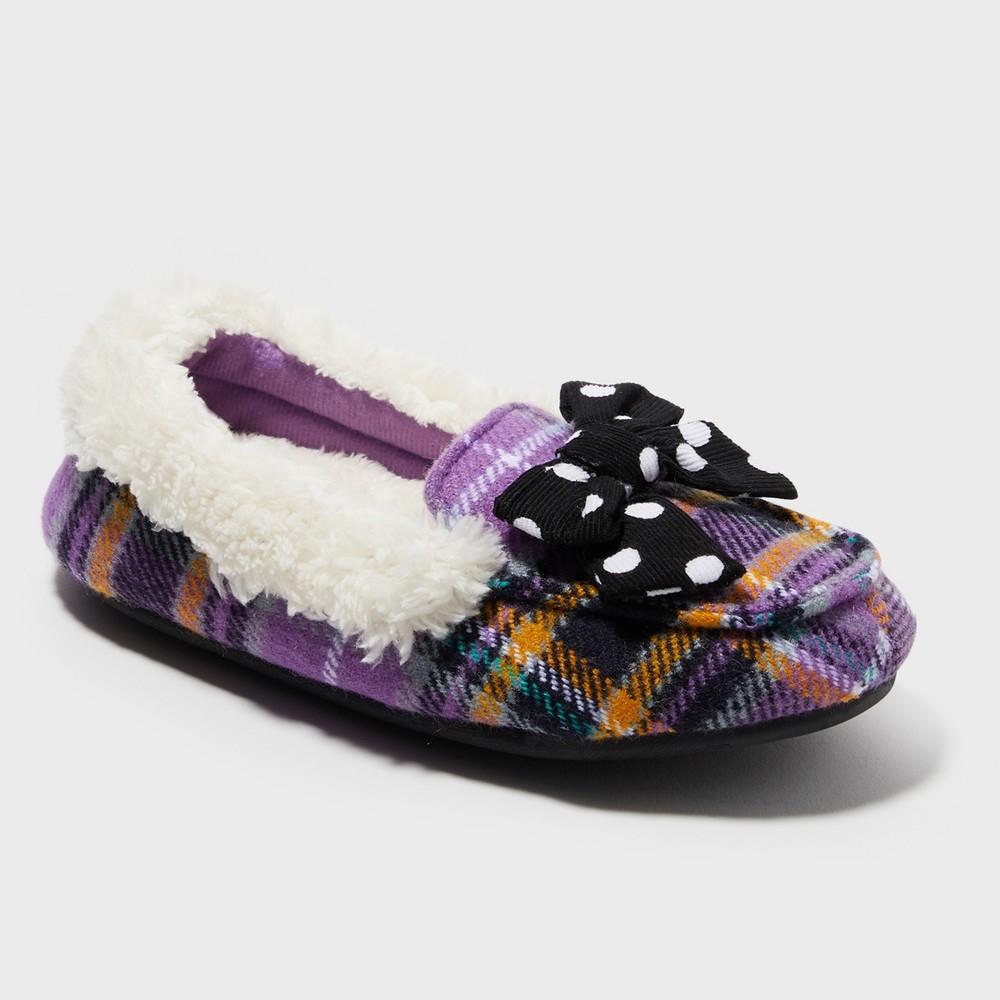 Image of Girls' Dearfoams Slide Slippers - Purple 7-8, Girl's