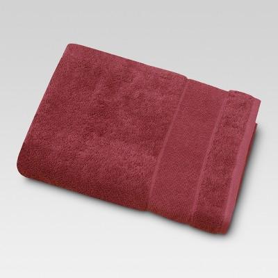 Ultra Soft Bath Sheet Wave Dark Red - Threshold™