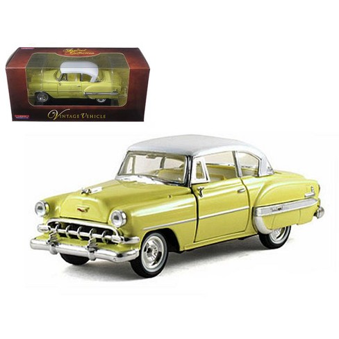 1954 Chevrolet Bel Air Yellow 132 Diecast Car Model By Arko