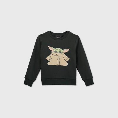 Toddler Boys' Star Wars Baby Yoda Fleece Sweatshirt - Olive Green
