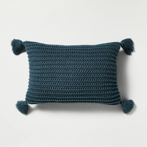 Chunky Knit Tassel Throw Pillow - Hearth & Hand™ with Magnolia - image 1 of 4