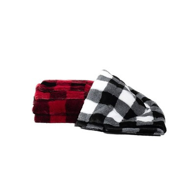 """50""""x60"""" Twice As Nice Reversible Plaid Faux Throw - Sure Fit : Target"""