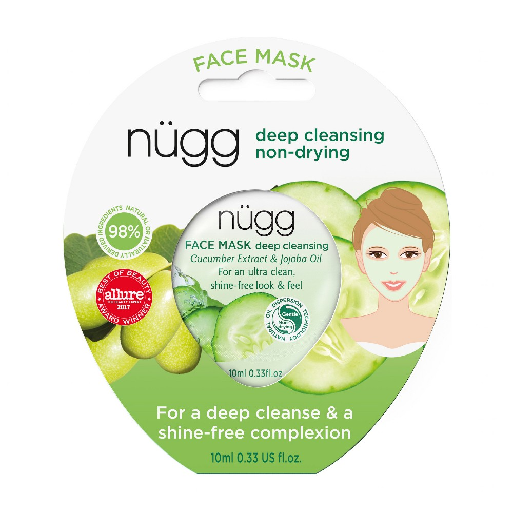 Image of nügg Deep Cleansing Face Mask with Cucumber Extract & Jojoba Oil - 0.33 fl oz