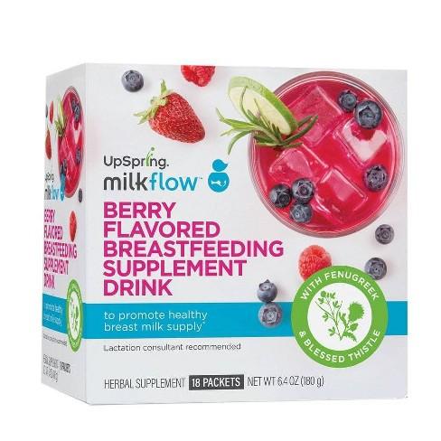 UpSpring Milkflow Fenugreek Drink Mix - Natural Berry - 18pk - image 1 of 4