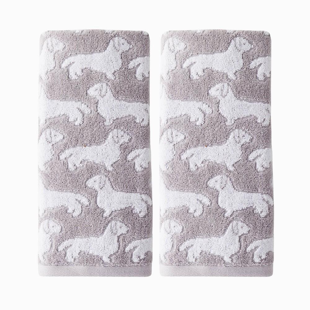 Image of 2pc Dog Hand Towel Gray - SKL Home
