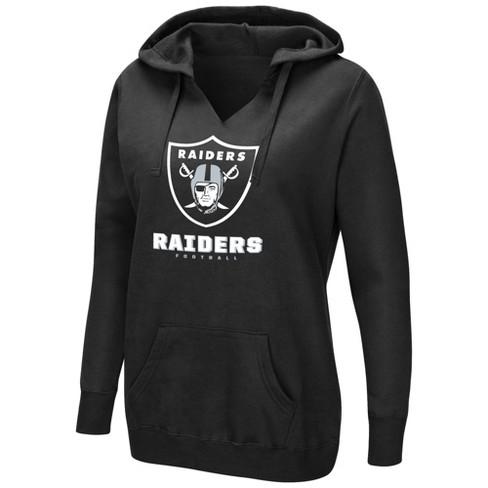 NFL Oakland Raiders Women's Shape It Up Plus Size Hoodie - image 1 of 1