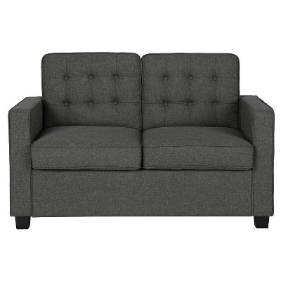 avery sleeper sofa with certipur certified memory foam mattress twin gray signature sleep rh target com full size sleeper sofa target small sleeper sofa target