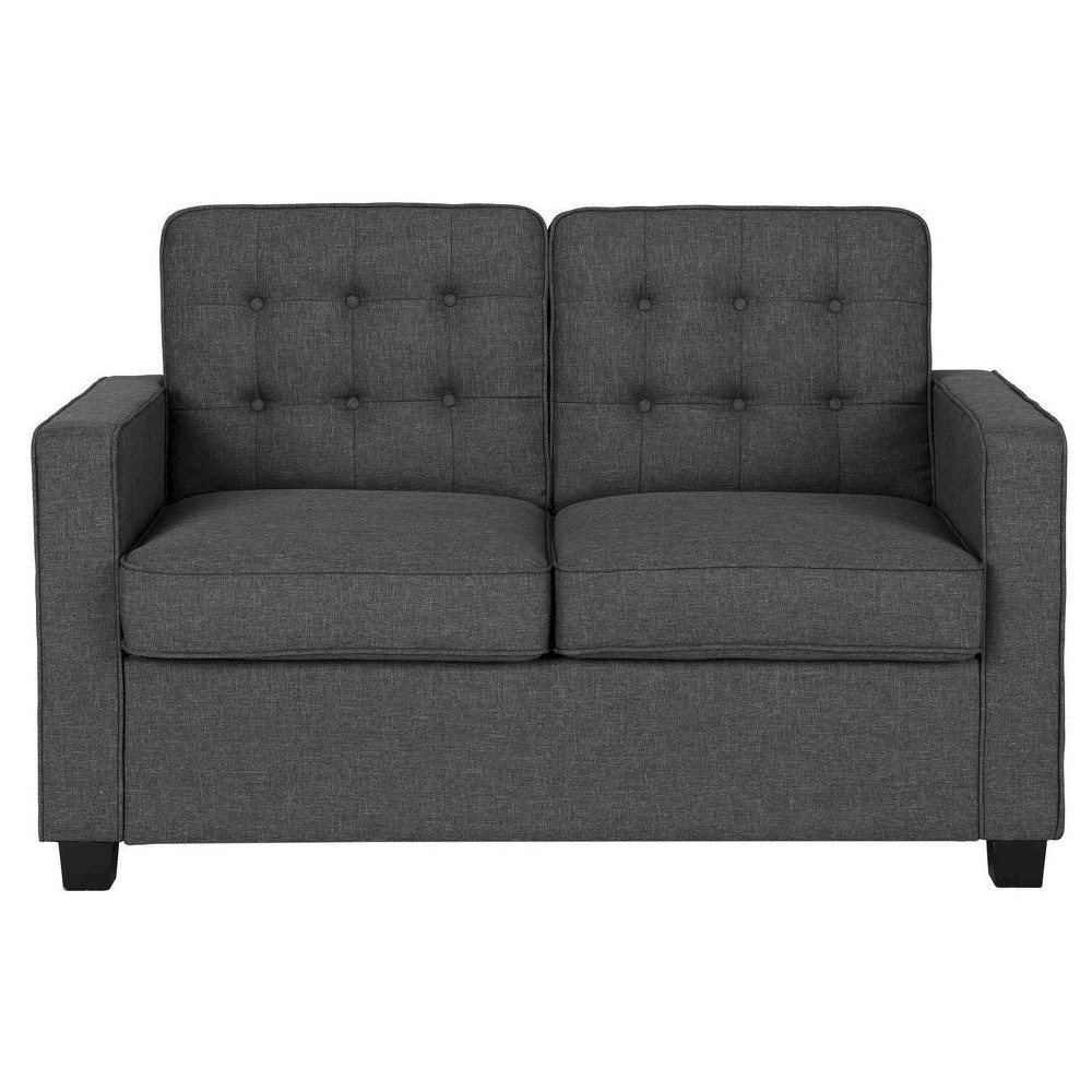 Image of Avery Sleeper Sofa with Certipur Certified Memory Foam Mattress Twin Gray - Signature Sleep
