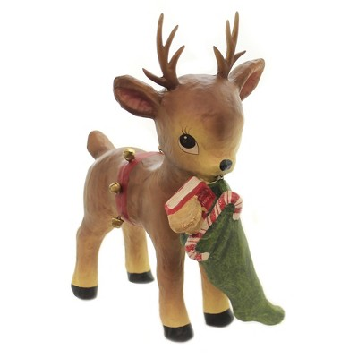 "Christmas 14.5"" Santa's Helper Reindeer Stocking Bells Candy Canes  -  Decorative Figurines"