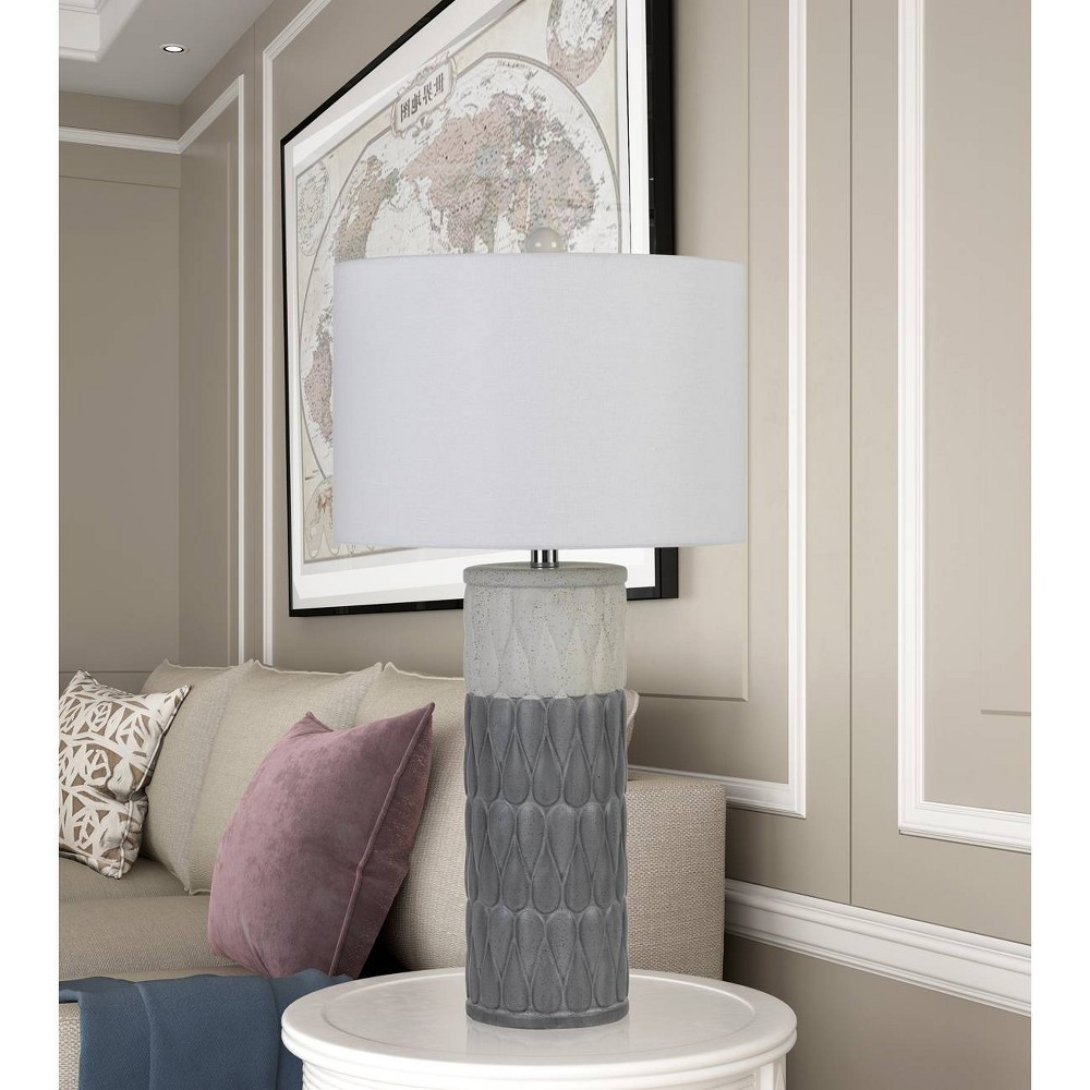 Image of 100W Voula Ceramic Table Lamps Gray (Set Of 2) (Lamp Only) - Cal Lighting