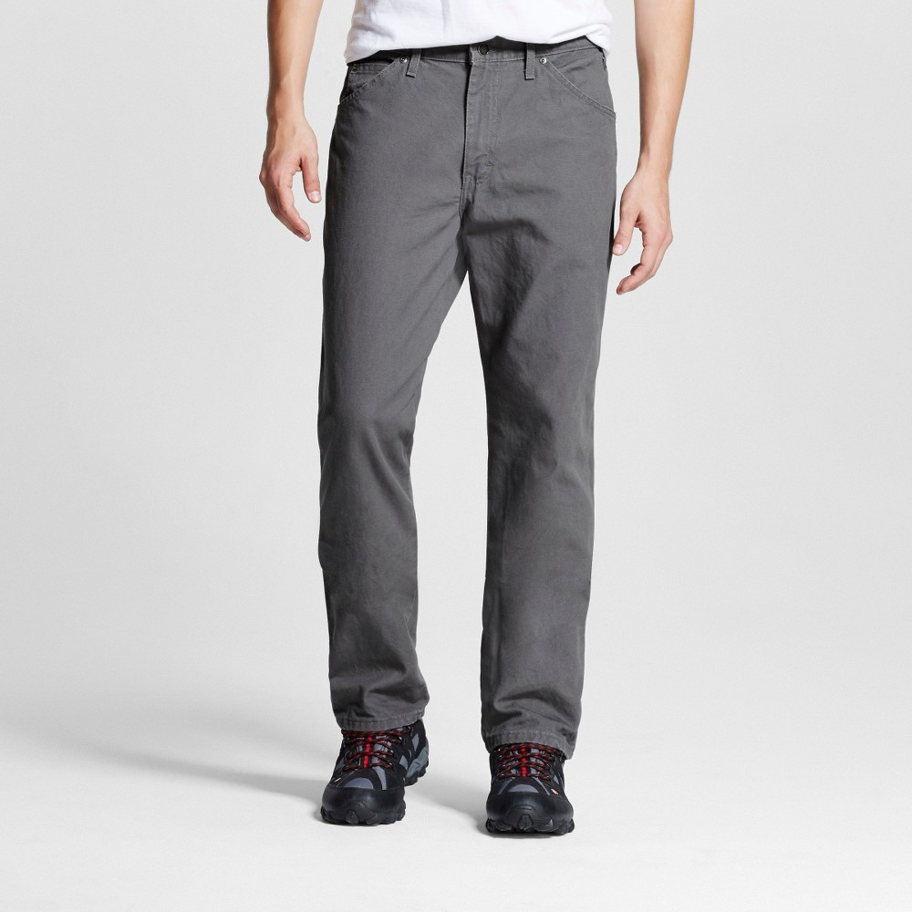 Dickies Men's Relaxed Straight Fit Canvas Carpenter Jeans -Slate 34X34, Grey