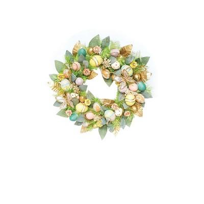 C&F Home Glitter Flower Easter Wreath